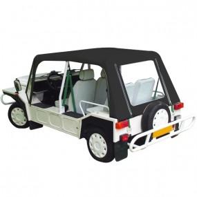 Capote avec portes pour Mini Moke Portugaise cabriolet en Vinyle noir avec finitions noires