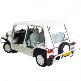 Capote Mini Moke Cagiva cabriolet en Vinyle blanc avec finitions blanches