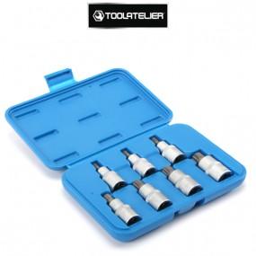 """Coffret de douilles XZN ou spline, carré 1/2"""" (7 pièces) - ToolAtelier®"""