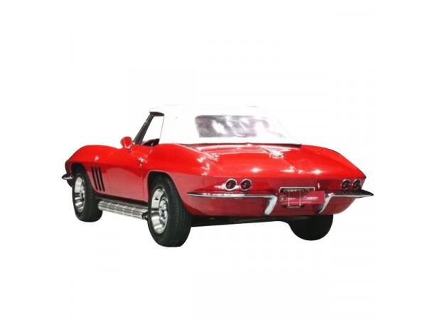 Capote auto Corvette C2 StingRay cabriolet en Alpaga avec lunette arrière en PVC