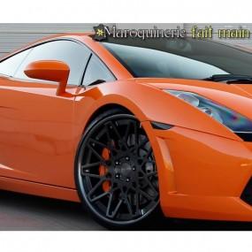 Bagagerie sur-mesure cuir pour Lamborghini Gallardo Coupé