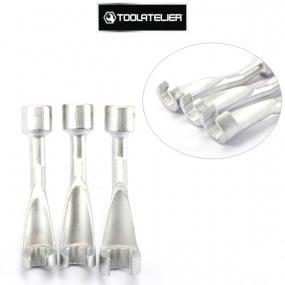 """Douilles décalées fendues spéciales injecteurs, carré entraînement 1/2"""" (lot de 3) - ToolAtelier®"""