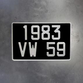 plaques d 39 immatriculation noires l 39 ancienne comptoir. Black Bedroom Furniture Sets. Home Design Ideas
