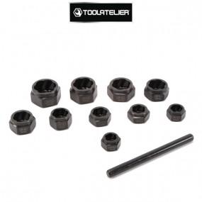 Extracteurs de vis, écrous, boulons abîmés (coffret de 10 extracteurs) - ToolAtelier®