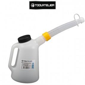 Broc verseur d'huile 1L avec bec flexible et couvercle - ToolAtelier®