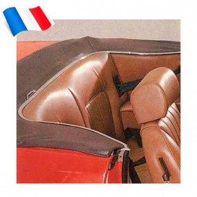 Garnitures de sièges arrières pour Peugeot 504 cabriolet - Made in France