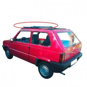 Partie avant du toit ouvrant en vinyle Fiat Panda découvrable