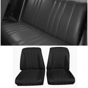 Coiffes sièges avant et banquette arrière Peugeot 304 - avec appuie-tête