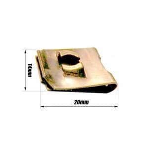 Clip 0.5 à 4mm écrou tôle