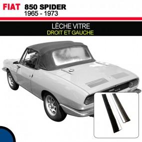Lèche vitre droite et gauche pour les cabriolets Fiat 850 Spider
