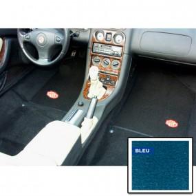Kit moquette préformée Bleu avec tapis de sol noir pour MGF de 1995-2003