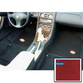 Kit moquette préformée rouge avec tapis de sol noir pour MGF de 1995-2003