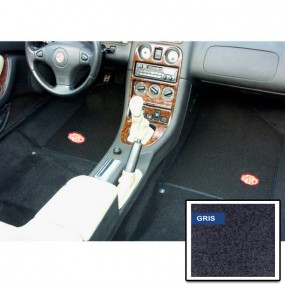 Kit moquette préformée grise avec tapis de sol noir pour MGF de 1995-2003