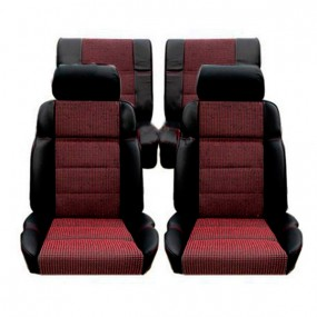 Garnitures siège avant et banquette arrière en cuir noir et tissu quartet 205 CTI
