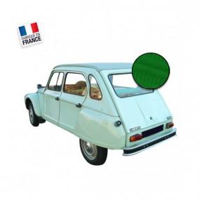 Capote en vinyle Vert Tuilerie qualité origine pour Citroen Dyane décapotable