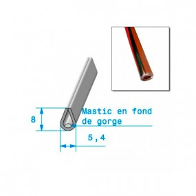 Joint en U 5,4mm x 8mm de finition chromé Rouge