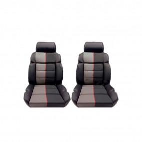 Garnitures siège avant en cuir anthracite et tissu ramier 205 GTI
