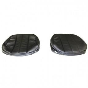 Coiffes pour appuis tête peugeot 204 et 304 coupé cabriolet simili cuir noir