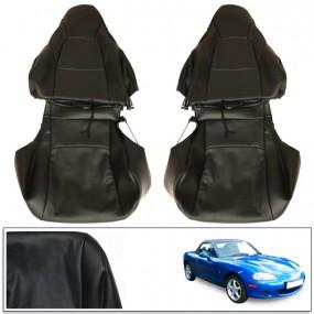 Housse de sièges sur mesure pour Mazda MX5 NBFL en cuir noir