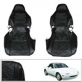 Housse de sièges sur mesure pour Mazda MX5 NA en cuir noir pour siège baquet