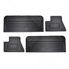 Panneaux de portes noir pour Golf 1 Cabriolet, qualité standard 4 pièces