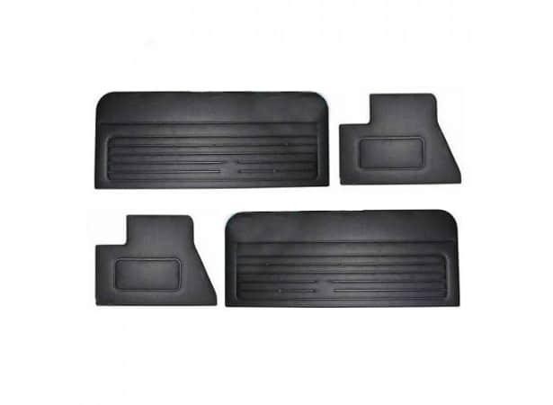 4 panneaux de portes noir pour golf 1 cabriolet. Black Bedroom Furniture Sets. Home Design Ideas