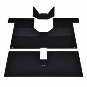 Kit de tapis moquette noir 3 pièces pour Renault 4L