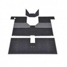 Kit de tapis moquette gris anthracite 3 pièces pour Renault 4L