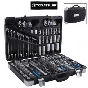 Coffret d'outils : clés à cliquet, douilles, embouts et rallonges (176 pièces) - ToolAtelier
