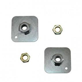 2 plaques en acier pour la création de point d'ancrage de ceintures de sécurité