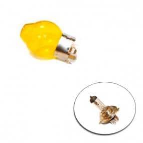 Verre jaune pour ampoule de type H4