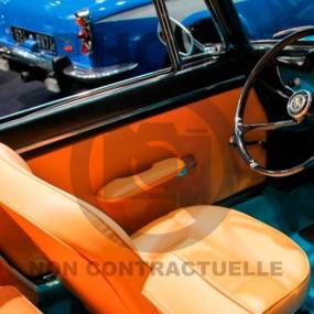 2 panneaux de porte simili cuir pour Peugeot 404 cabriolet