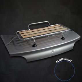 Kit porte-bagages bois Véronique 3 barres alu + kit galva avec ventouses