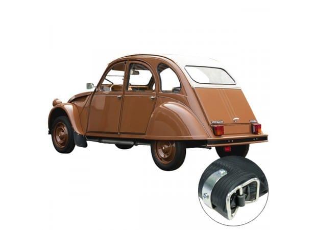 Capote auto pour Citroen 2CV en vinyle qualité origine avec fermeture extérieure