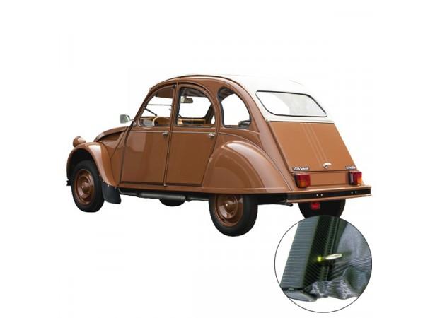 Capote auto pour Citroen 2CV en vinyle qualité origine avec fermeture intérieure