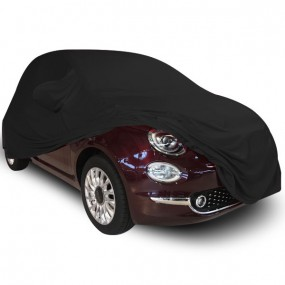 Bâche protection sur-mesure Fiat 500 C décapotable en Jersey (Coverlux) - utilisation garage