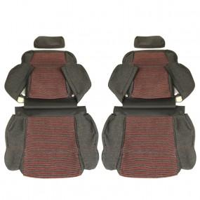 Garnitures siège avant et banquette arrière en tissu Monaco 205 GTI