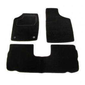 Tapis auto sur-mesure noir pour voiture Renault 19 en moquette aiguilletée (avants+arrières)