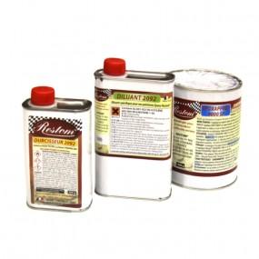 Restom® Apprêt époxy bi-composants ultra garnissant et anticorrosion avec diluant anthracite
