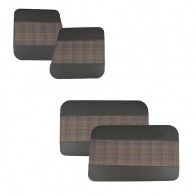 4 Panneaux de portes avant et arrière en tissu écossais pour Renault 4L