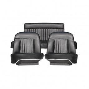 Coiffes sièges avants et banquette arrière en simili cuir pour Peugeot 404 Cabriolet