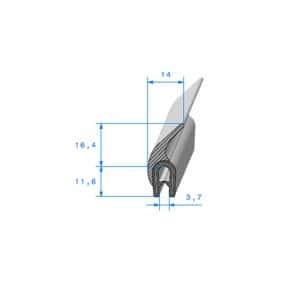 Joint coffre sur armature métallique - 7.5 x 16.4 mm