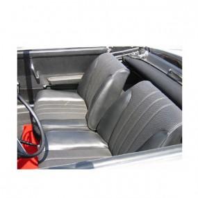 Coiffes sièges avants noirs cannés Peugeot 304