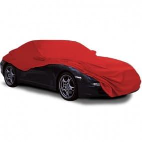 Bâche protection Porsche 997 cabriolet en Jersey (Coverlux) Rouge pour garage