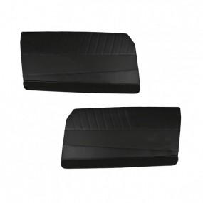 Ensemble de 2 panneaux de portes avant simili noir pour Peugeot 204 coupé