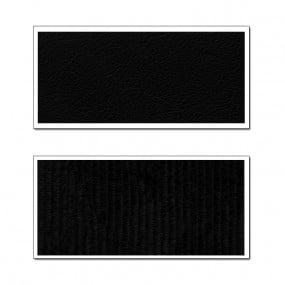 Panneaux de portes pour Peugeot 304 coupé en tissu côtelé noir semis cuir noir