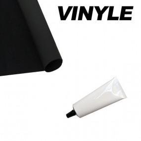 Kit réparation de base pour capotes en vinyle ou pvc noires