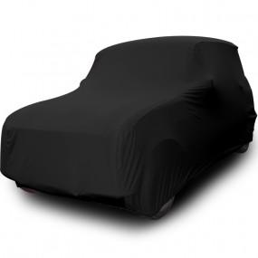 Bâche protection sur-mesure pour Renault 4L découvrable en Jersey Noir (Coverlux+) - utilisation garage