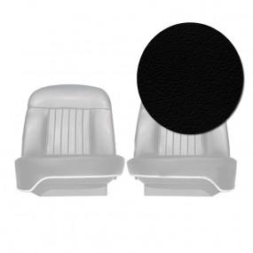 Coiffes sièges avants en cuir noir pour Peugeot 404 Cabriolet