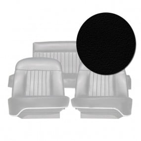 Coiffes complètes des sièges avants et banquette arrière en cuir noir pour Peugeot 404 Cabriolet